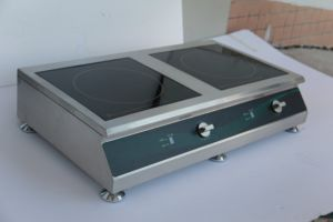 One Wok and One Flat Double Burner Induction Cooker pictures & photos