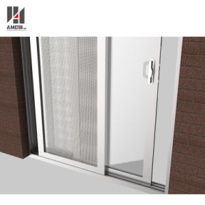 As2208 Safety Glass Energy Saving Double Glass Triple Rail Aluminium Sliding Door pictures & photos