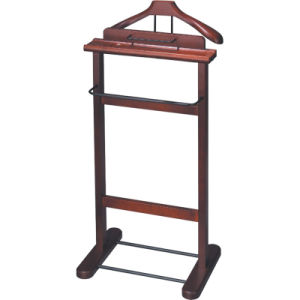 Simple Stainless Steel Valet Stand with Wooden Hanger pictures & photos