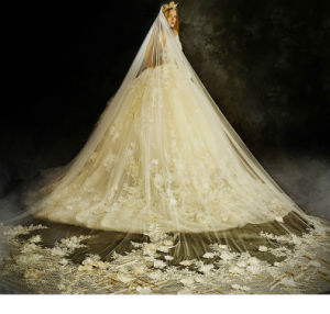 New Style 2018 3/4 Sleeves Ivory Ball Gown Wedding Dress Z201710 pictures & photos