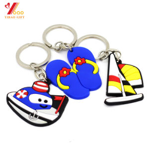 2017 New Hot Selling Boat Shape PVC Keychain for Promotion Item pictures & photos