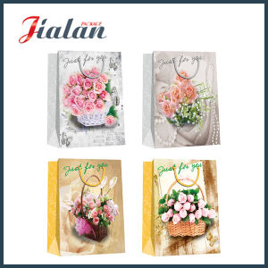 Butterfly Printed Professional Cheap Natural Design Paper Bag pictures & photos