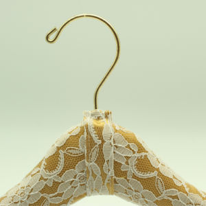 Pretty Lace Decoration Handmade Satin Dress Hanger pictures & photos