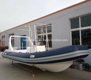 Liya 6.6m Inflatable Rib Rubber Boats Hypalon Rib Dive Boat pictures & photos