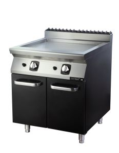 Commercial Gas Griddle with Cabinet---Half Grooved and Half Flat (FG7X410YN) pictures & photos