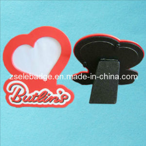 Custom Heart-Shaped Rubberized PVC Photo Frame (ele-PF01) pictures & photos