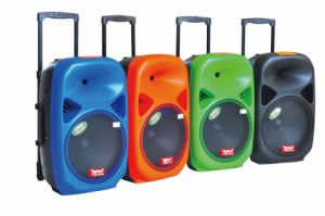 15 Inch Portable Trolley Speakers with Bluetooth F28 pictures & photos
