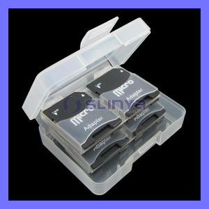 OEM Micro SD TF Memory Card Adapter Plastic Case Box (TF-118) pictures & photos
