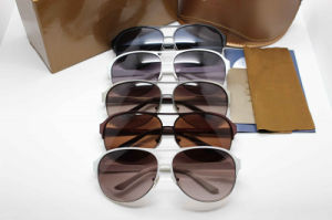2014 Hot Sale Popular Metal Frame Sunglasses and Acetate Temple Eyewear in The Original Famous Brand Sunglasses