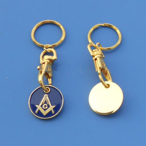 Soft Enamel Masonic Token Coin Key Chain pictures & photos