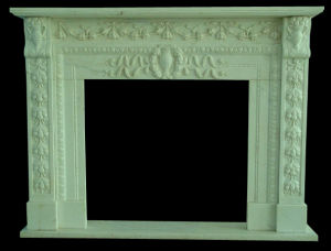 White Marble Carving Fireplace pictures & photos