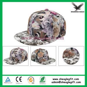 Custom Flat Brim 5 Panel Snapback Hat pictures & photos