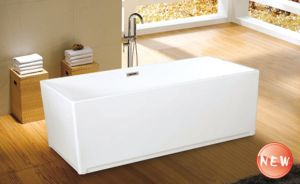 Cupc Quality Square Acrylic Wholesale Freestanding Bath Tub pictures & photos