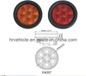 4′′ Round Truck Trailer LED Stop/Turn/Tail Lamp Hr104207 pictures & photos