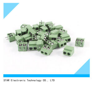 2 Pin 5mm Pitch PCB Mount Screw Terminal Block pictures & photos