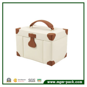 High Quality Luxury Custom Thick Portable Leather Jewelry Box pictures & photos