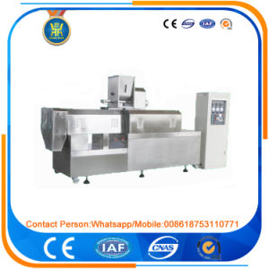 Fish Feed Machine/Double Screw Fish Feed Extruder pictures & photos