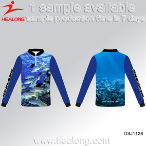 2017 Fishing Wear Healong Dye Sublimation Colorful Fishing T Shirts pictures & photos
