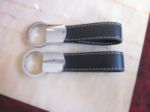 Business Executive Gift Car Logo Debossed Genuine Leather Key Chain pictures & photos