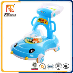New Model Cartoon Round Baby Walker with 4 Wheels pictures & photos