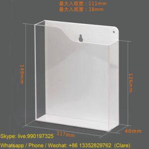 Wall Mounted Transparent Acrylic Brochures Holder pictures & photos