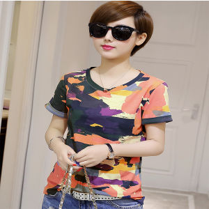 Dry Fit Camouflage Shirt Short Sleeve T Shirt Printing pictures & photos
