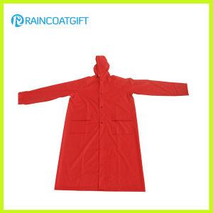 PVC Polyester PVC Men′s Long Raincoat Rpp-028 pictures & photos