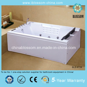 Economical ABS Double Person Rectangular Whirpool Massage Bathtub (BLS-8728) pictures & photos