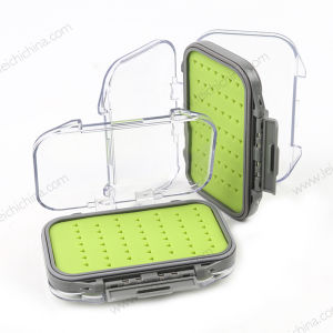 Super Small 105*75*33mm Silicone Insert Plastic Fly Fishing Box pictures & photos