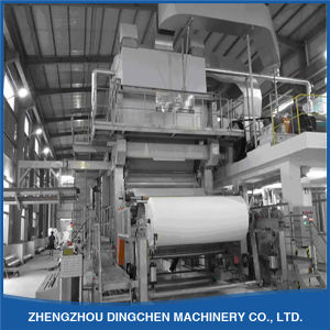 Paper Tissue Production Line by Using Waste Paper pictures & photos