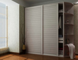 Ritz Bedroom Furniture Sliding Door White Solid Wood Wardrobe pictures & photos