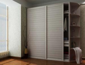 White wooden wardrobe doors