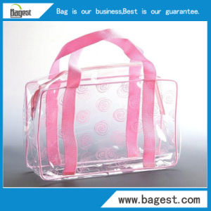 Reusable cosmetic PVC Zipper Bag Plastic Package Bag for Make up pictures & photos