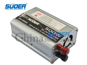 Suoer 12V 500W DC to AC Solar Inverter with CE&RoHS (SAA-500A) pictures & photos