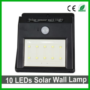 Good Quality 10LEDs Outdoor Solar LED Wall Light PIR Sensor Garden Light pictures & photos