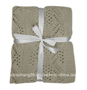 Cable Knit Polyester Baby Blanket (HR14KB028) pictures & photos