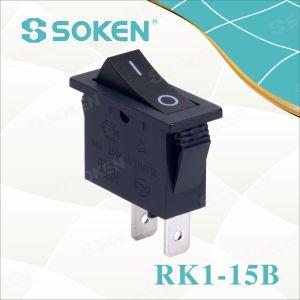 Soken Rk1-15b 1X1 B/B on off Rocker Switch pictures & photos