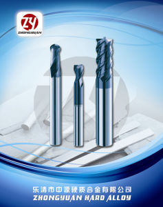 HRC45 CNC Machine Cutting Tools 4flutes Solid Carbide Endmills