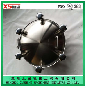 Dn400 Stainless Steel AISI304 Sanitary Pressure Round Manhole Cover pictures & photos