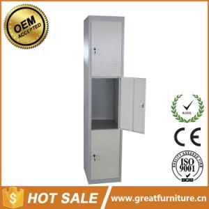 Iron Locker Safe Deposit Metal 3 Door Steel Locker pictures & photos