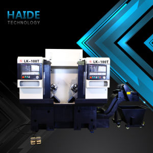 CNC Lathe Machine Price with Oversea Service (LK-100T) pictures & photos