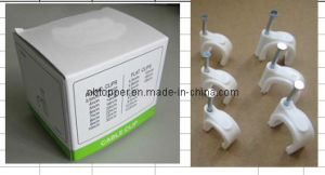 White Color Round Cable Clip (C01) pictures & photos