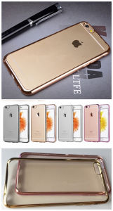 Ultra-Thin Electroplated Transparent TPU Phone Case Cover for iPhone 6s pictures & photos