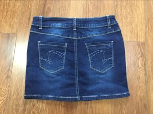 Ladies Skirt Dress Denim Short Jeans pictures & photos