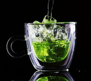 Eco-Freindly Double Wall Glass Juice Cup with Handle pictures & photos