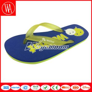 Flat Sandal Fashion Girl Slippers with Printing