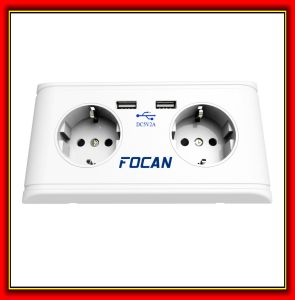 Germany CE 5V 2.1A USB Wall Socket with Double USB Charging Ports for Germany 3 Pin Plug Using pictures & photos