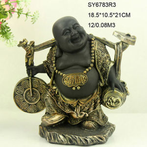 China Factory Wholesale Laughing Buddha Statues for Indoor Decor