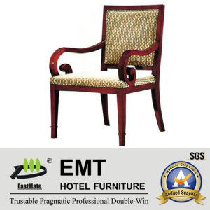 Wooden Frame Hotel Furniture Reception Chair (EMT-HC18) pictures & photos