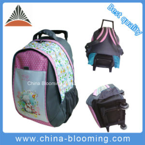 School Student Travel Rolling Trolleywheeled Backpack Bag pictures & photos